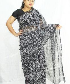 Lucknow Chikankari Designer Saree